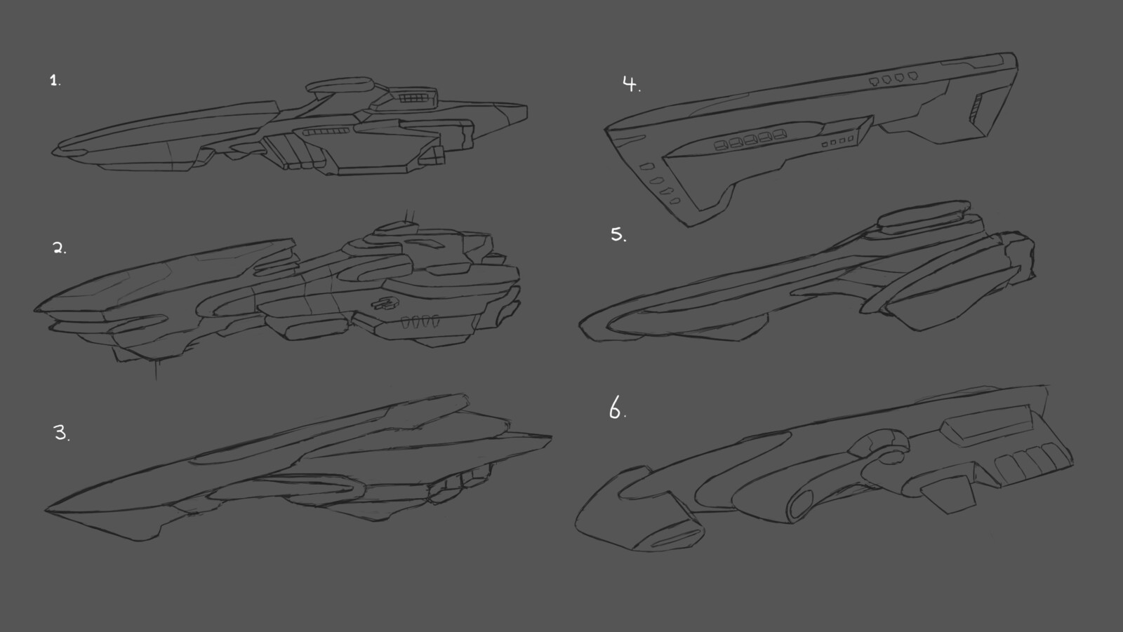 Mock sketchup concepts when designing the ship