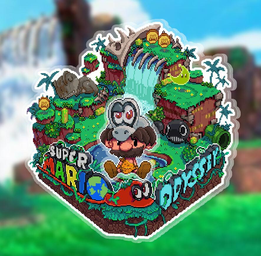 Linkduck Super Mario Odyssey Pixelart
