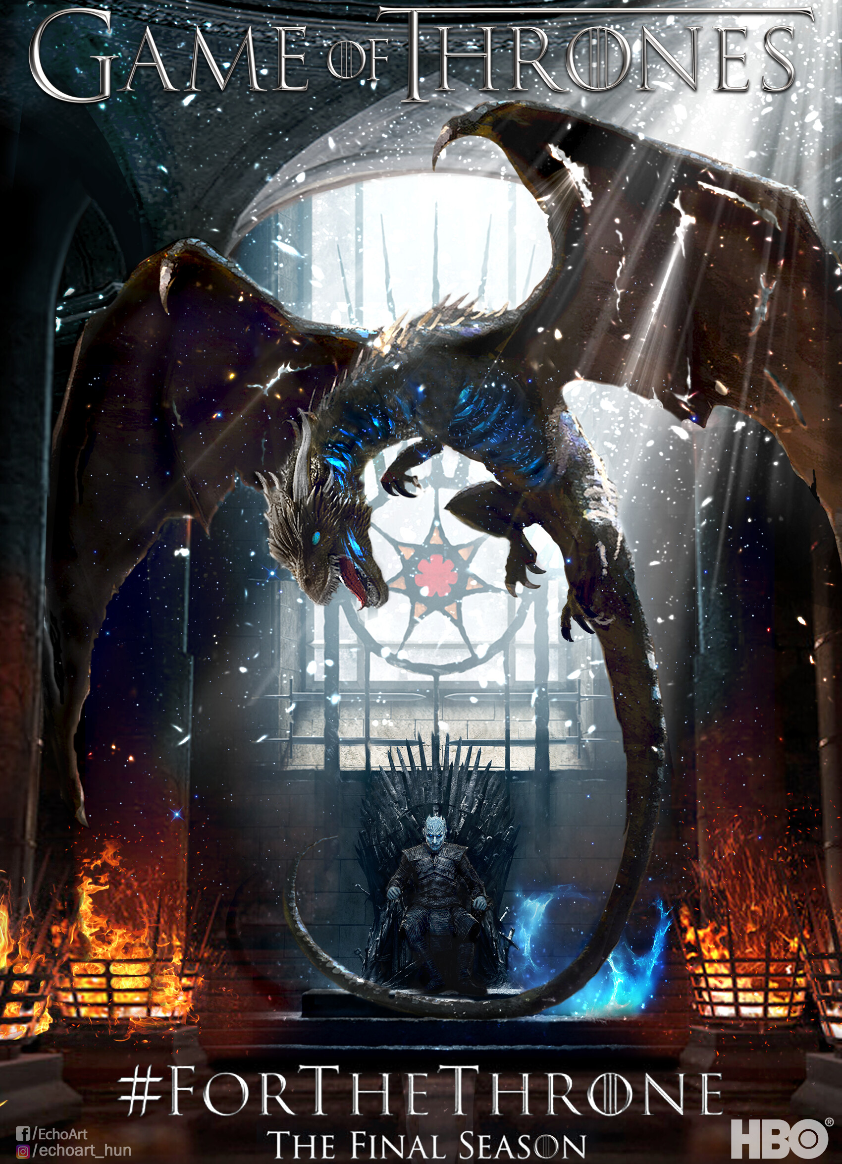 Echoart Hun Game Of Thrones Final Season Poster