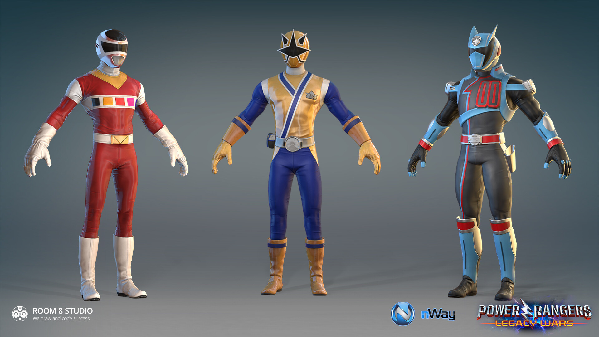 ArtStation - Power Rangers: Legacy Wars - Characters, ROOM 8