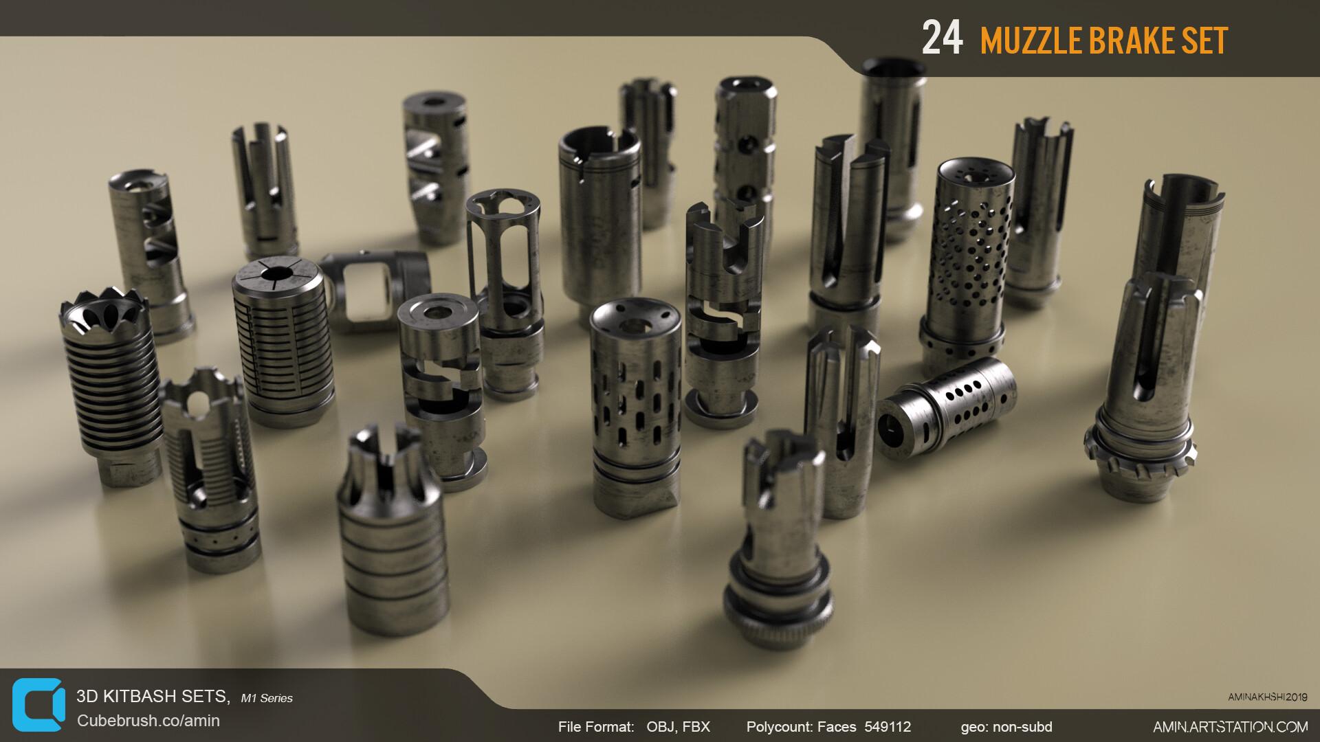 Amin akhshi 007 muzzle brakes set