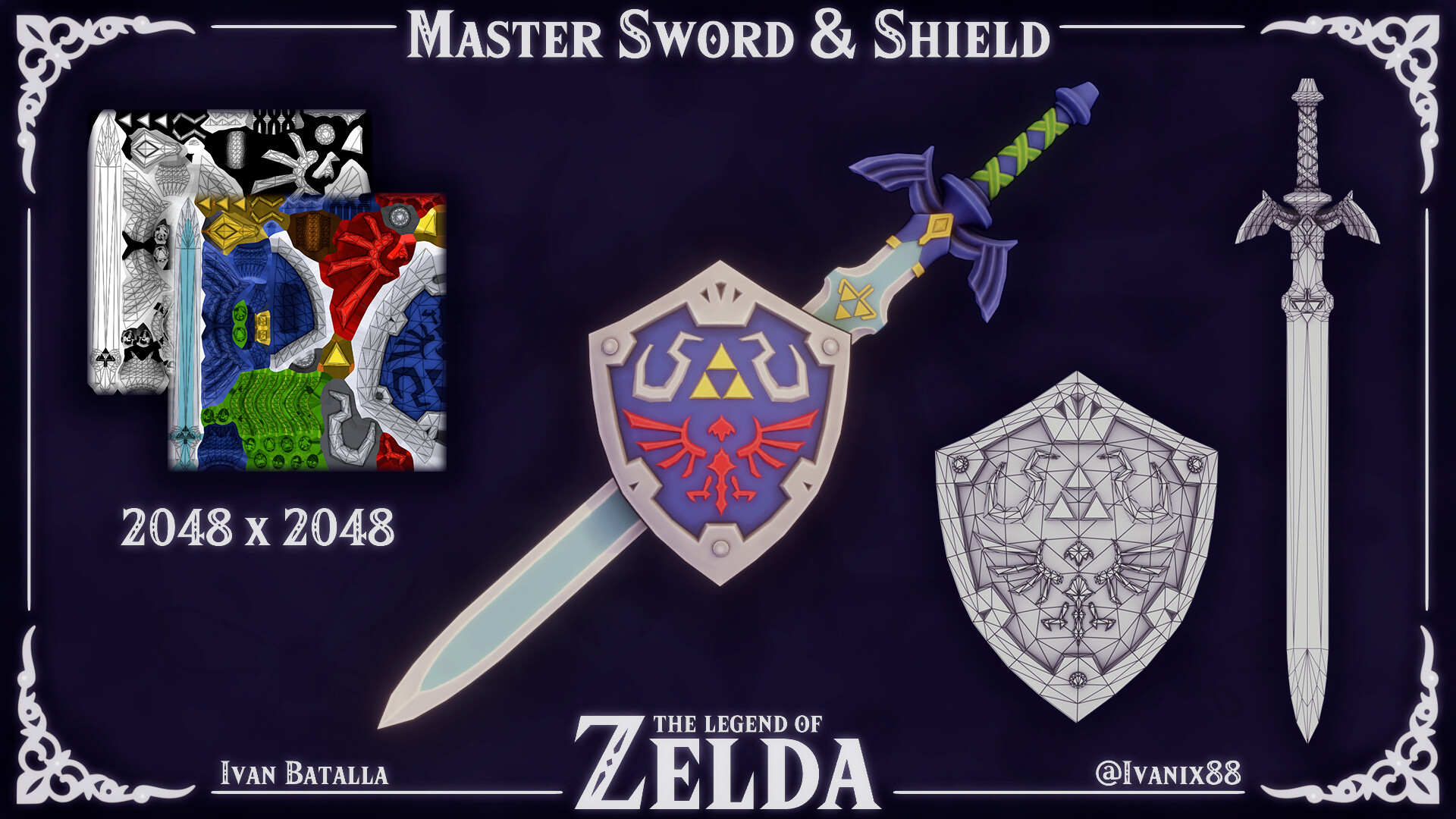 Master Sword and Shield.