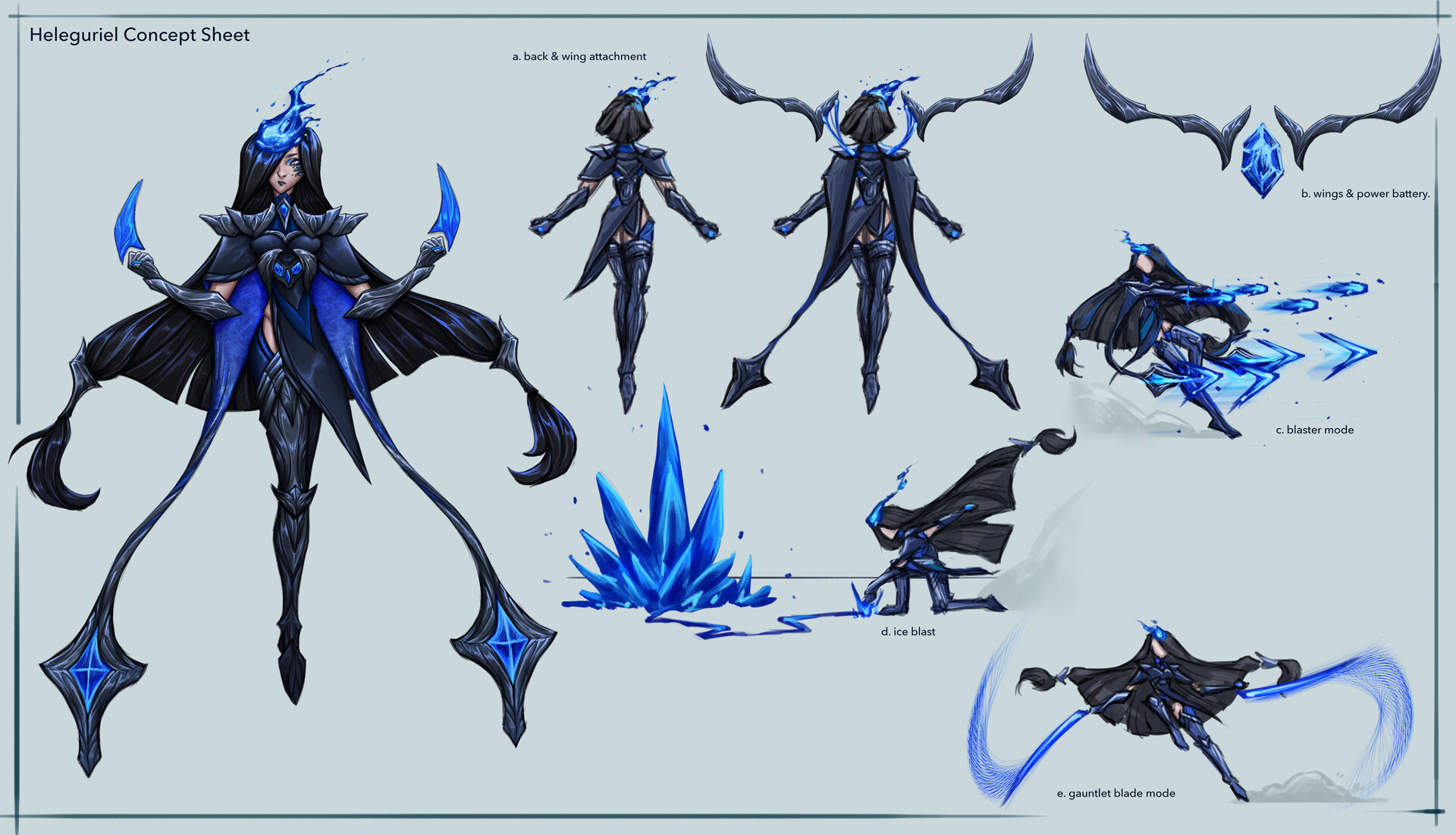 Devin yang as heleguriel concept sheet