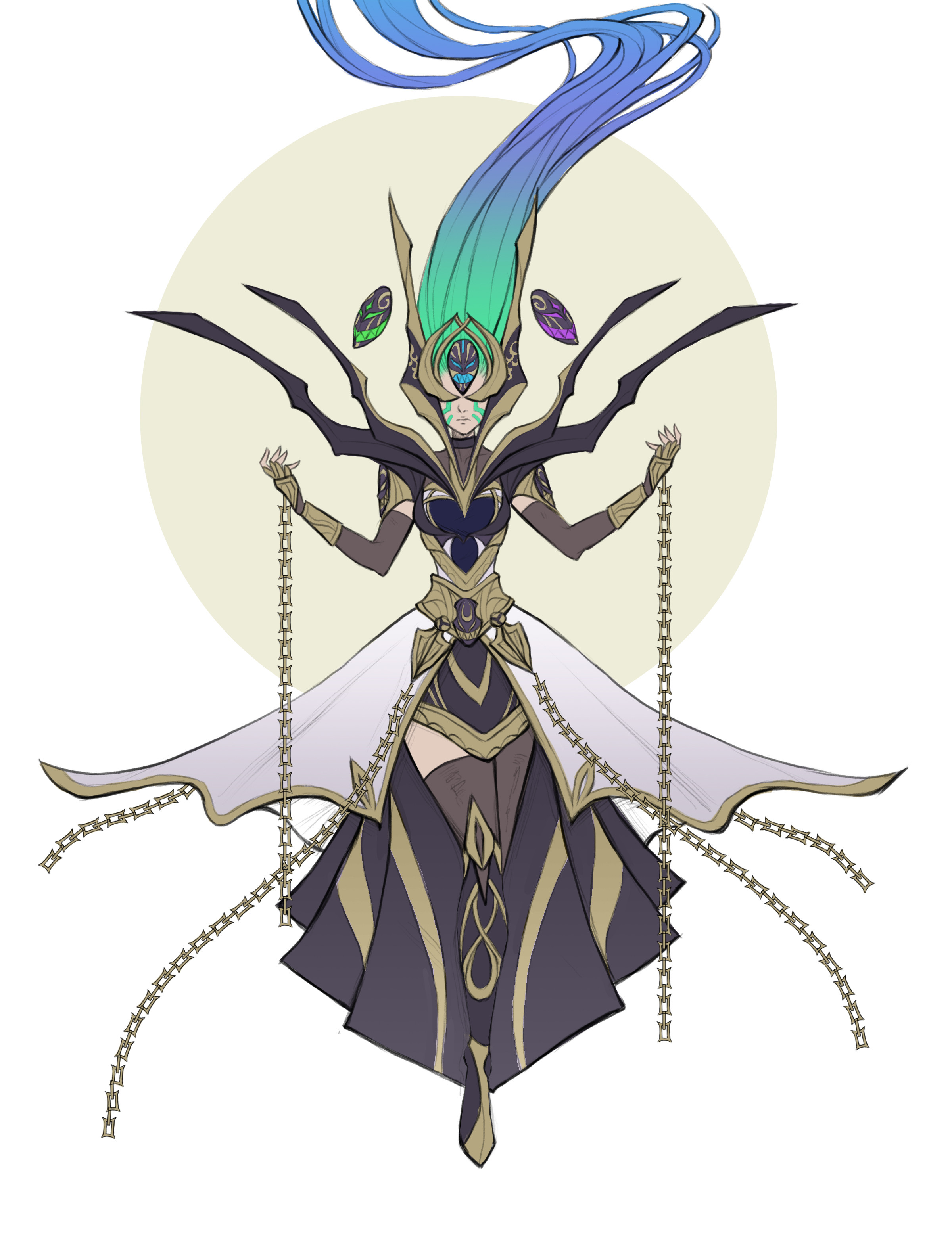 God-Queen Borea [2/3] Flat colors