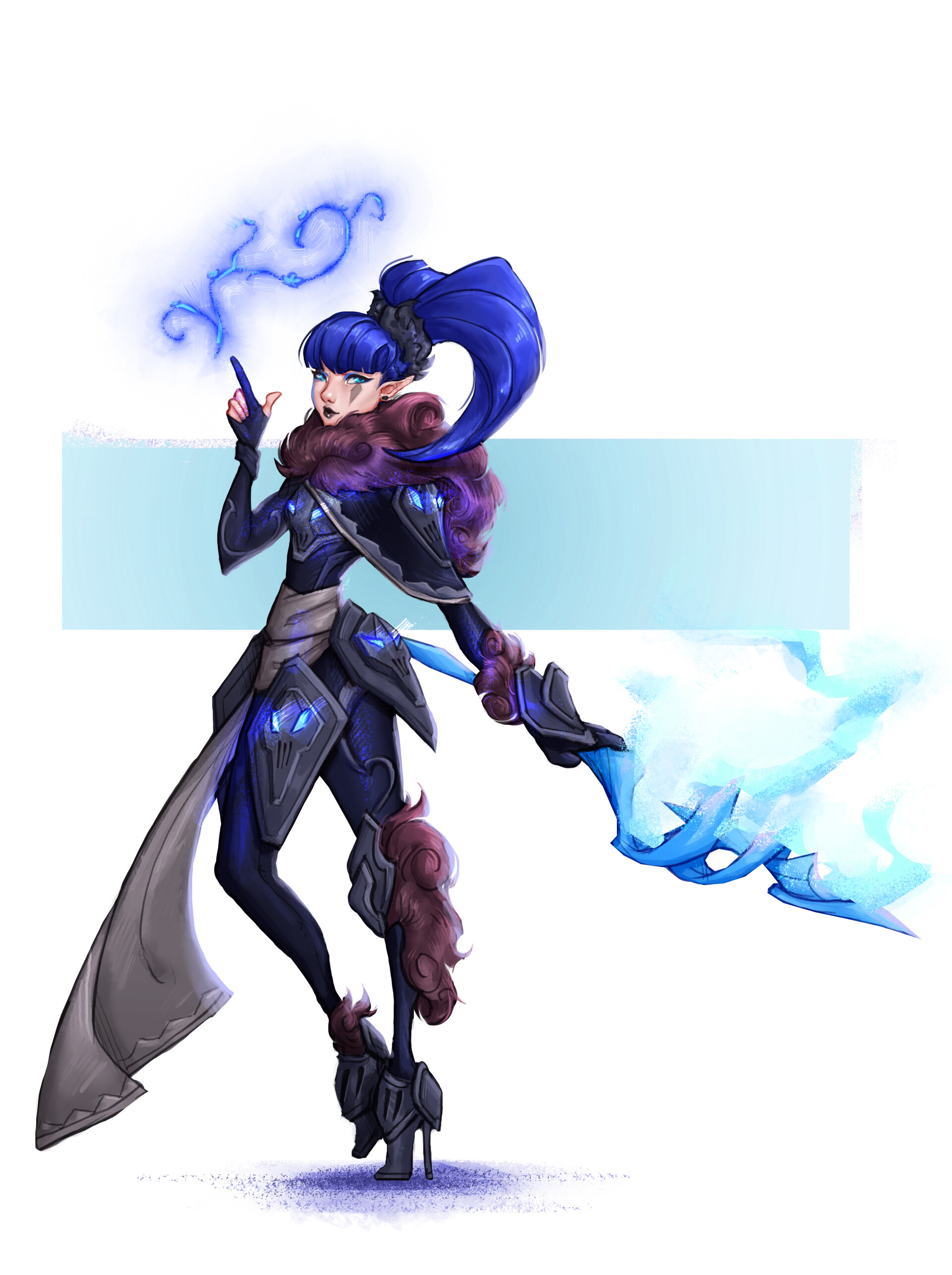 [Non-Asgaea] An edgy frost mage that can raise frozen corpses and create beautiful floral ice sculptures, who gets annoyed at her legendary scepter that doesn't match with her outfit >:(