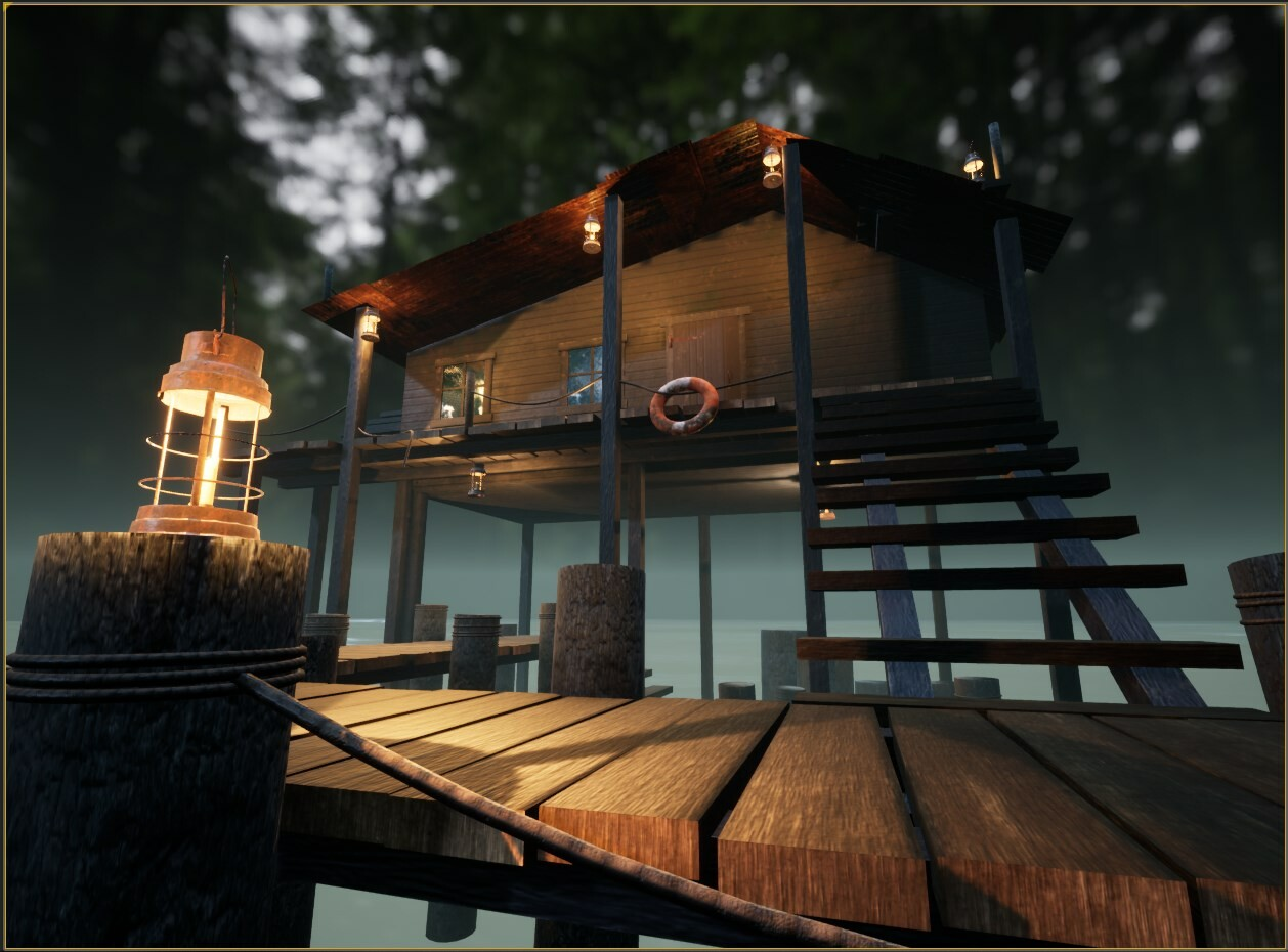 ArtStation - Fantasy Fishing Shack - Blender/Substance/UE4, Brent Reel