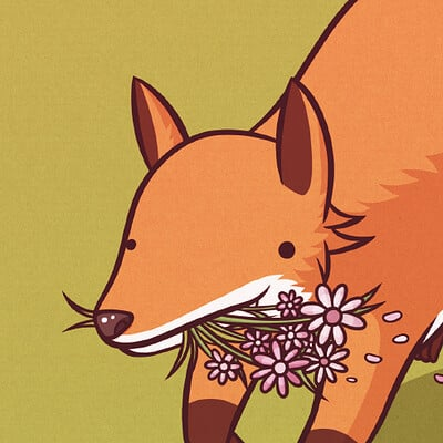 Fox & the Flowers