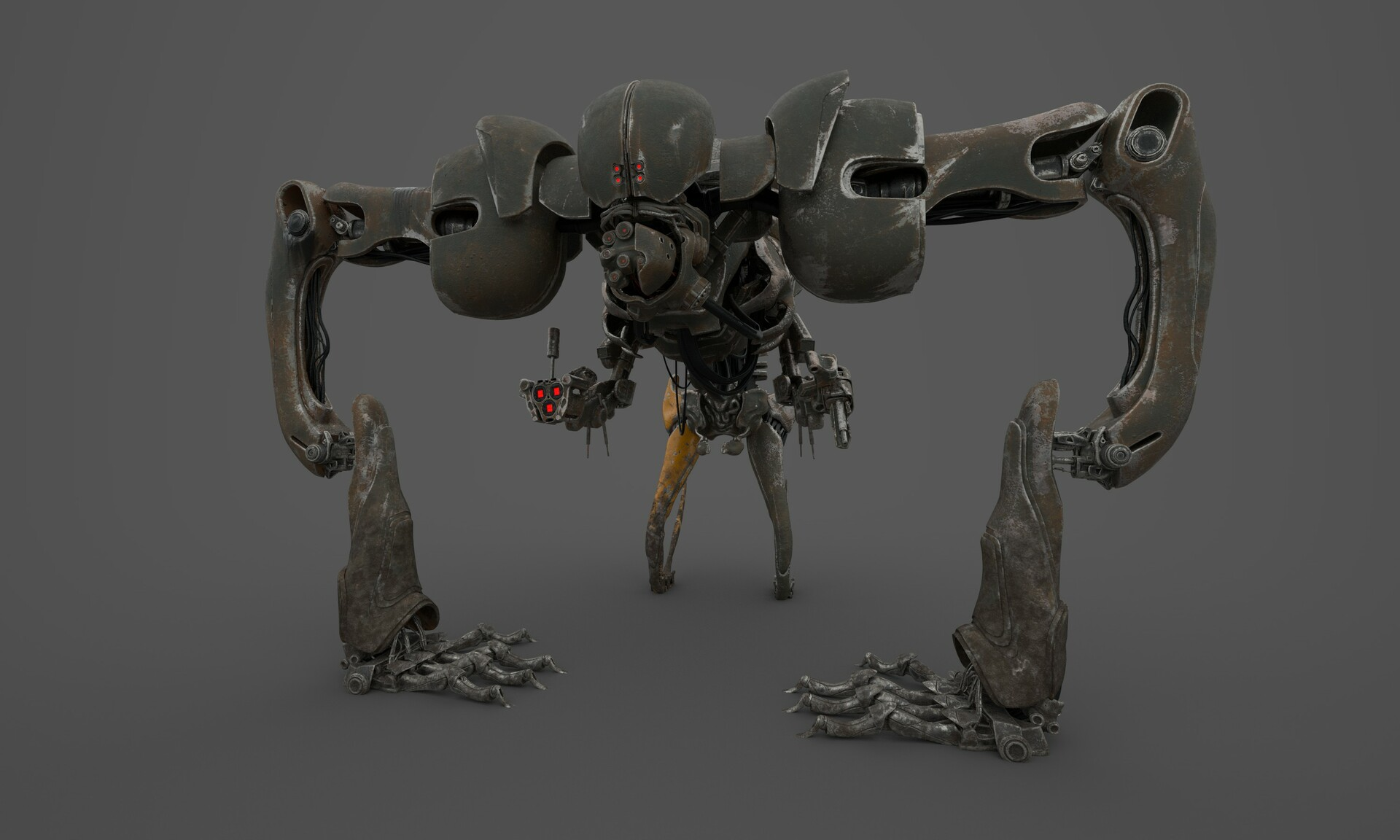 Douglas silva print robo de pe substance painter doug silva render