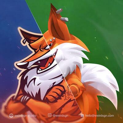 Weirdsgn studio fox avatar gamer 01