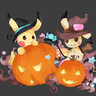 Elsa kisiel pikachu mimiqui halloween 03 banniere little