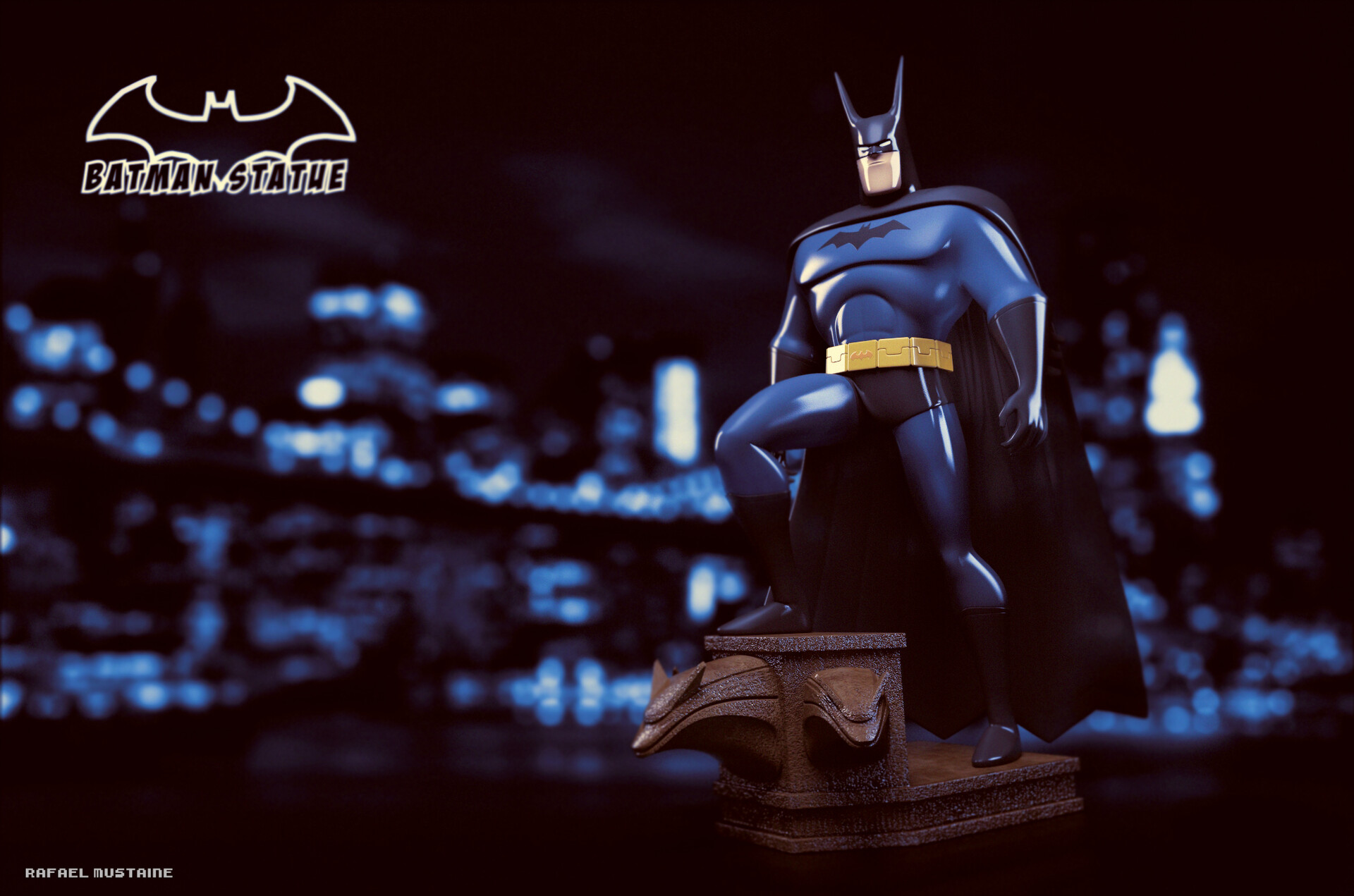 Batman Statue Fan Art