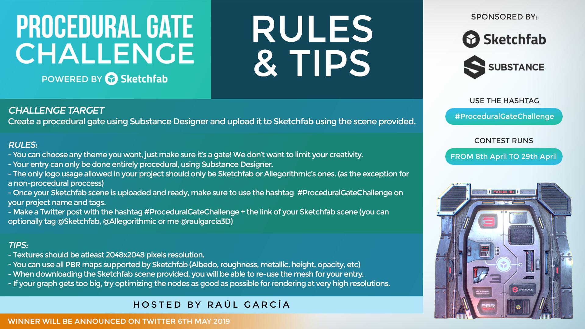 ArtStation - #ProceduralGateChallenge - Sci Fi Gate (Download), Raúl