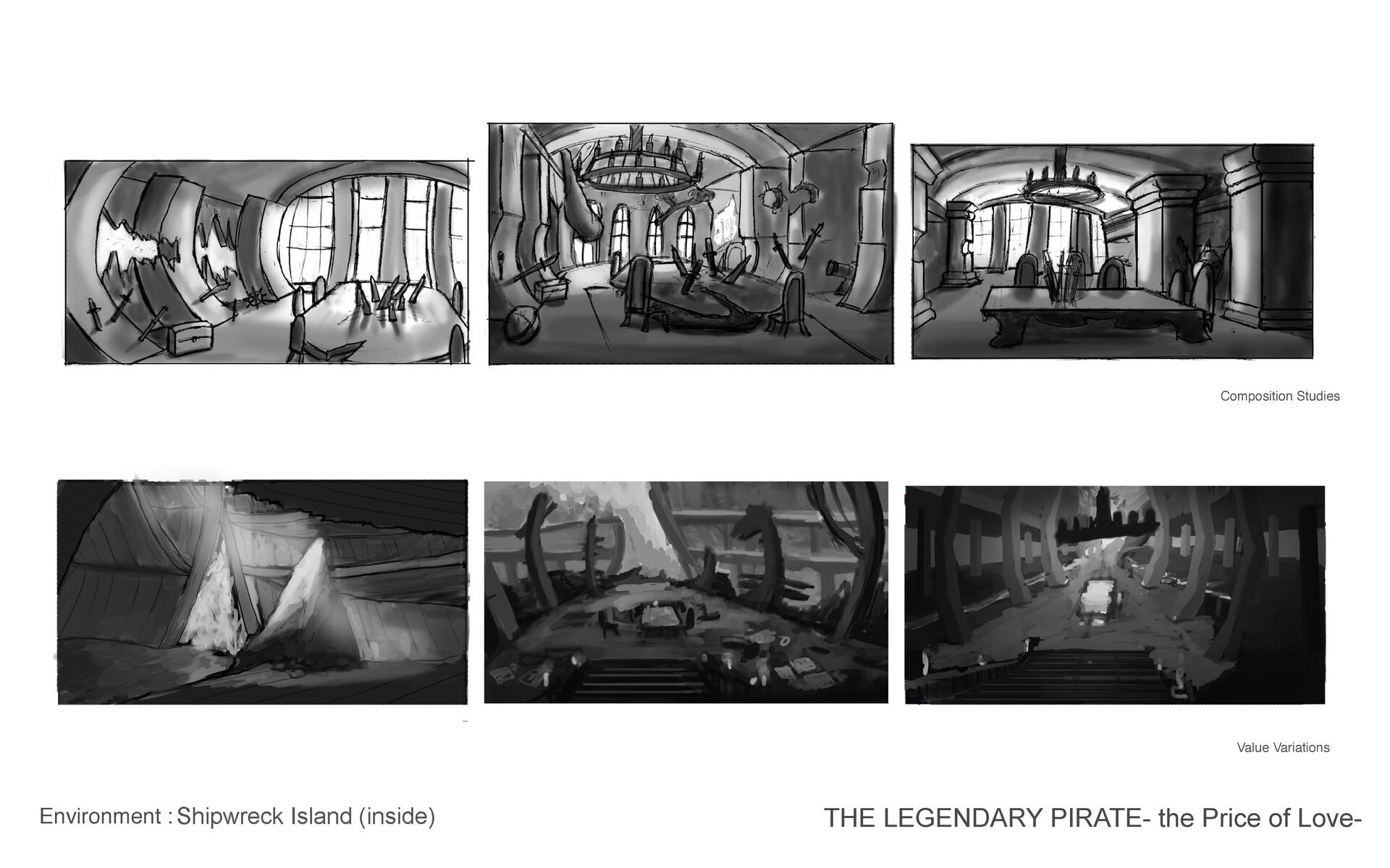 Inside of Shipwreck Island (Study)