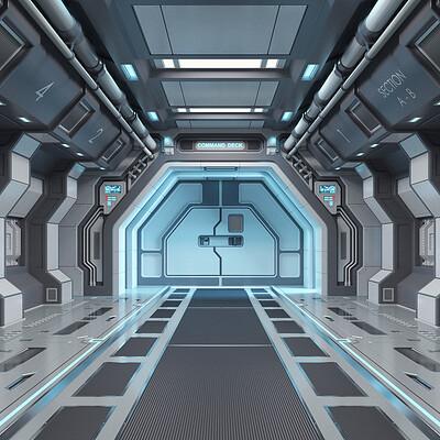 Dilshod sharipov sci fi corridor finish
