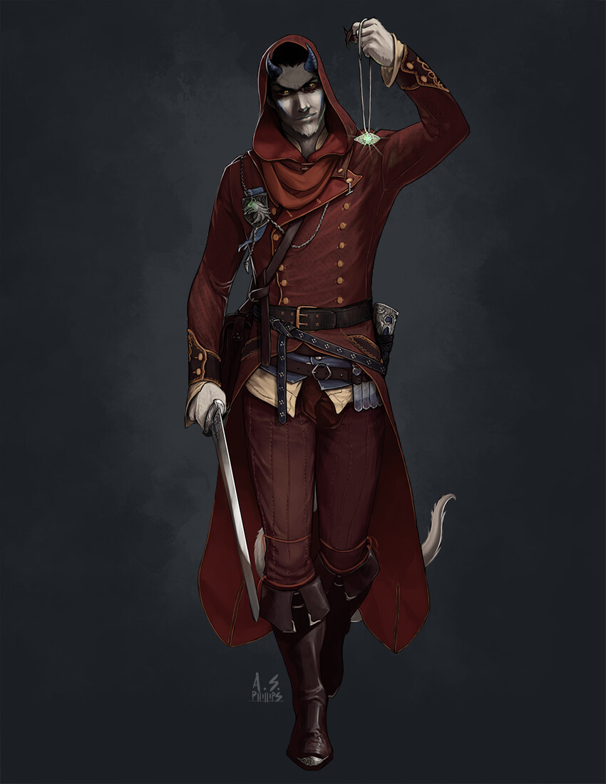 Artstation Character Commission Maelcolm Tiefling Bloodhunter Andrew Phillips