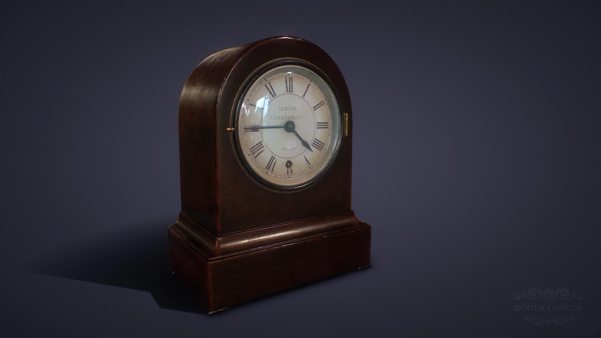 Roger gerzner victorian mantel clock