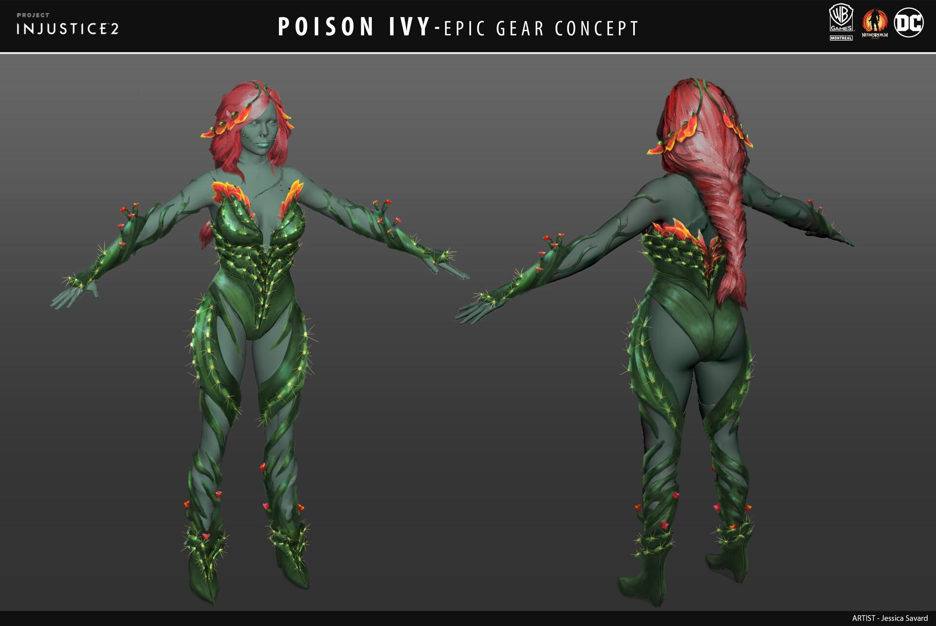 Injustice 2 Poison Ivy Concept Art