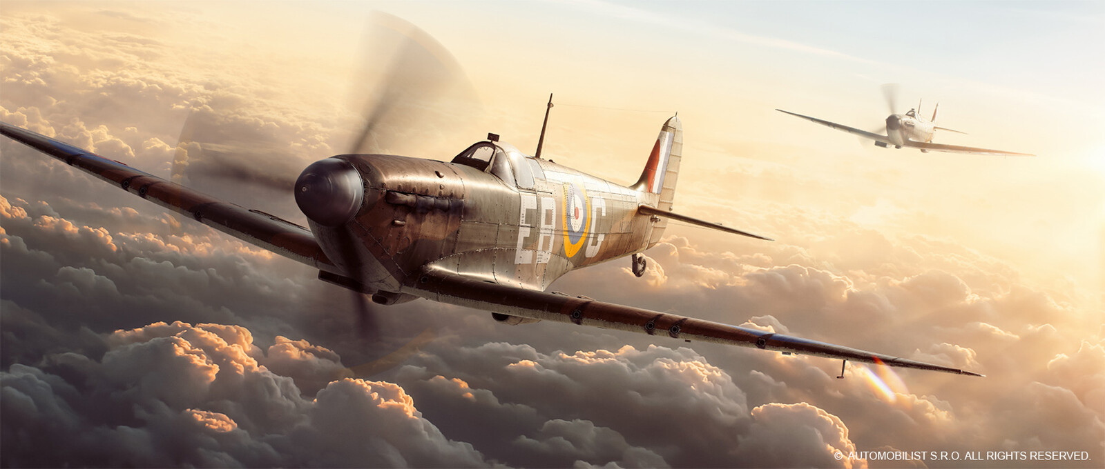 Lost A Leader, Gained An Ace Artwork - Spitfire and Huricanne modelling
