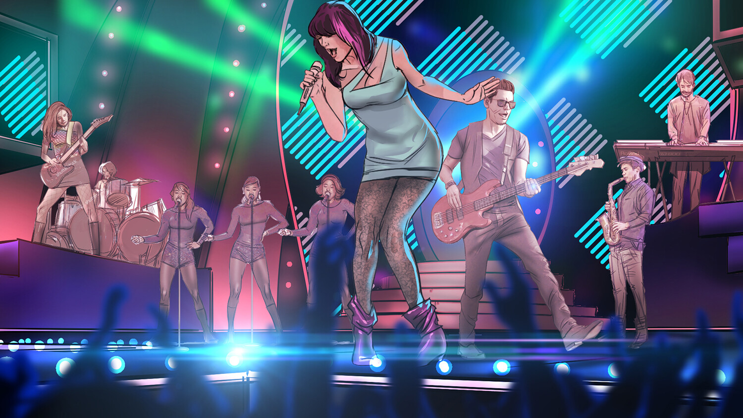 THE VOICE - Live show // PITCH keyart