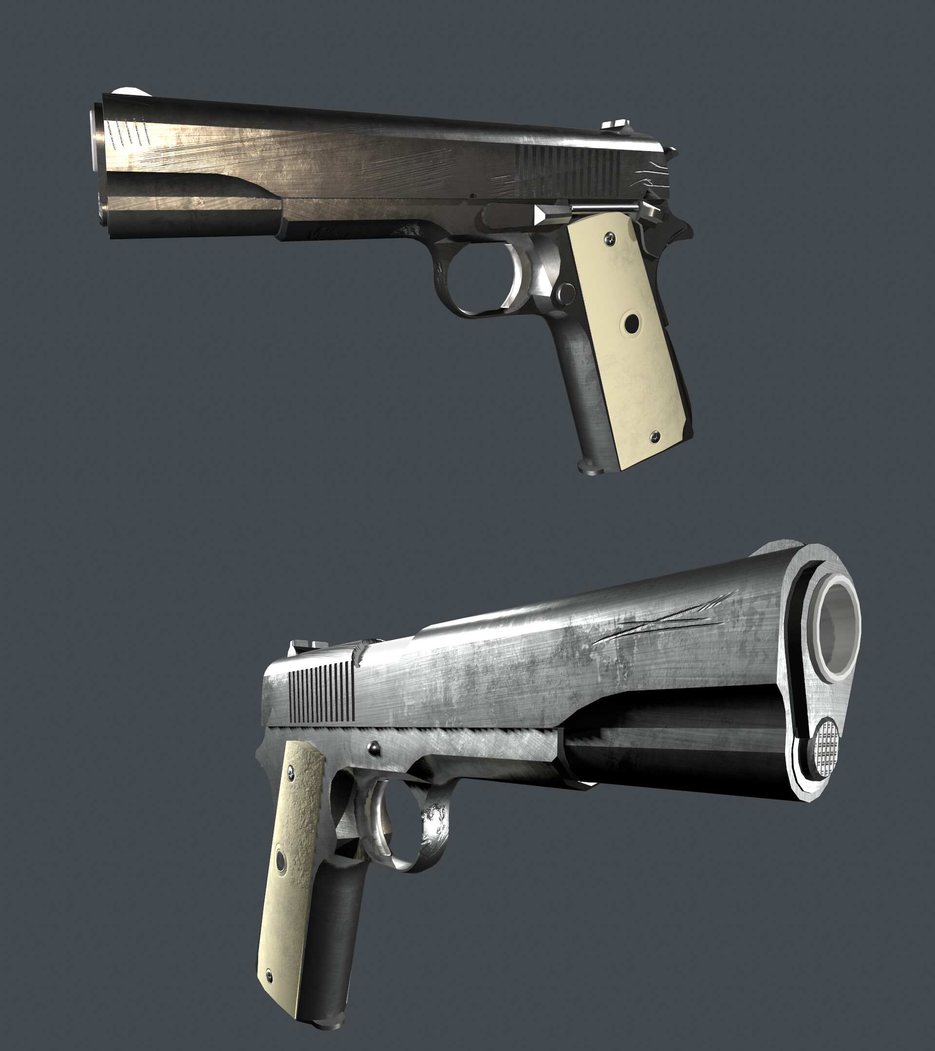 Gun-Model is from Ole Gunnar Isager. (changed texture to match the character)