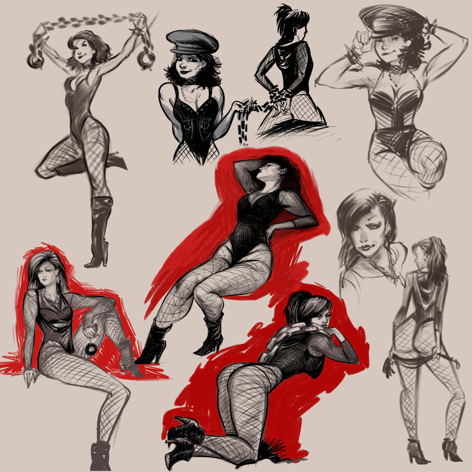 Anthony diecidue pin up sketches