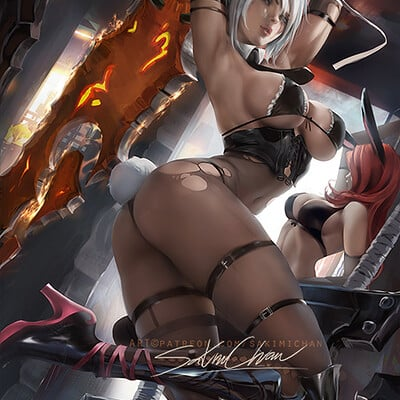 Sakimi chan battle bunny riven nsfw 01