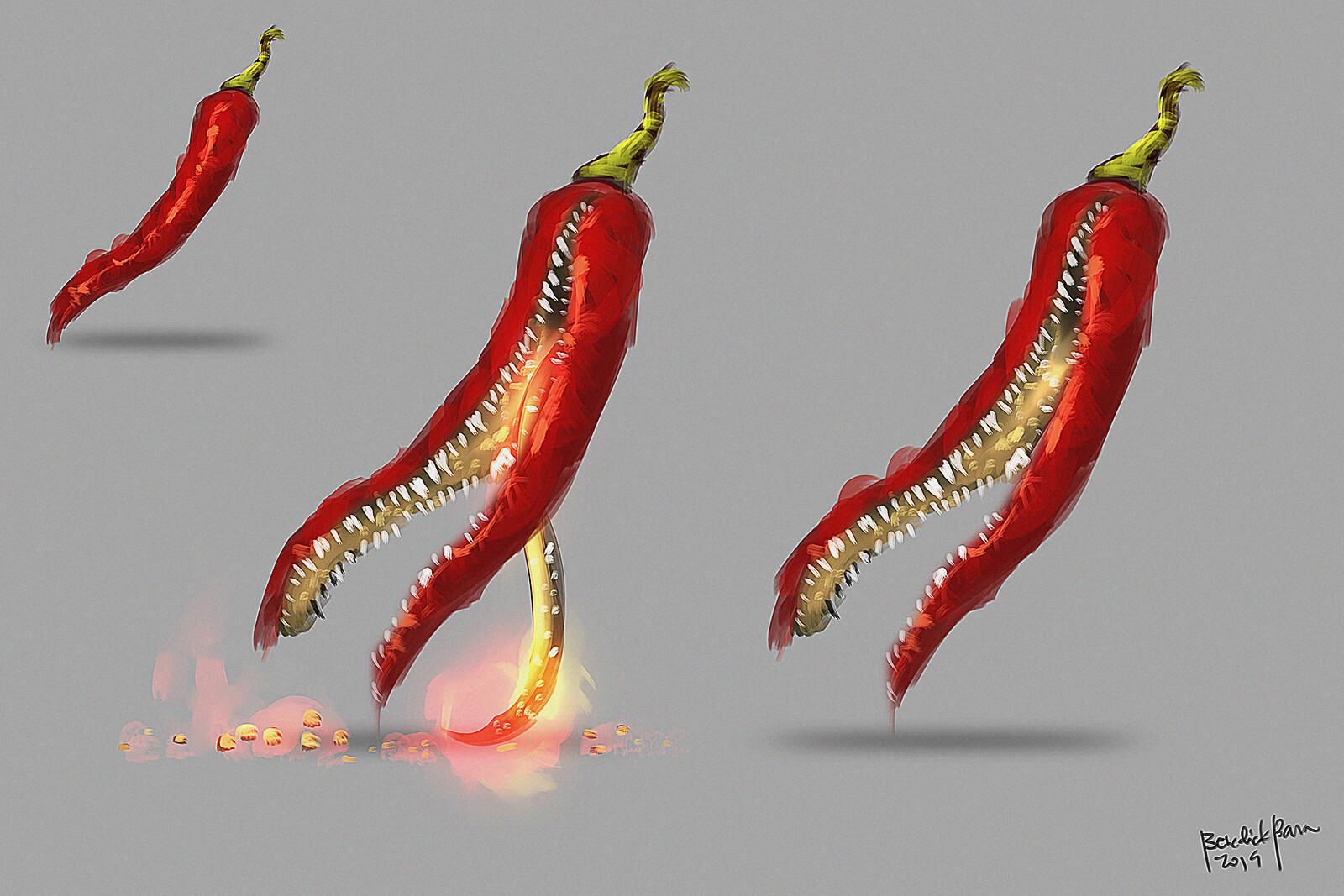 """A Philippine native pepper called """"Sili"""" turned into a giant fire spitting monster :D"""