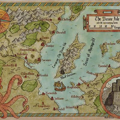 Robert altbauer pirates fantasy map