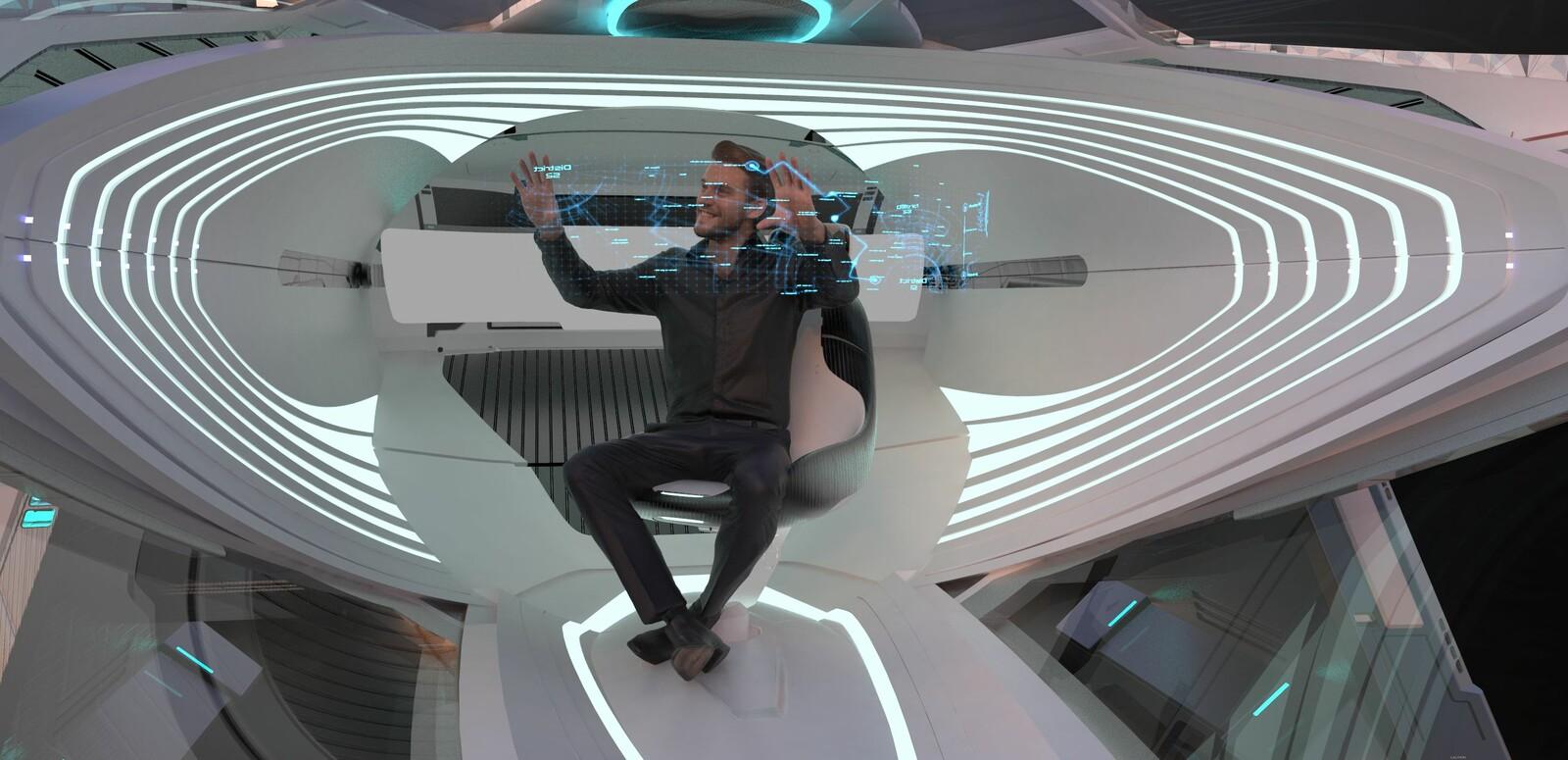 NVIDIA Metropia 2042 - AZIMUTH concept Interior
