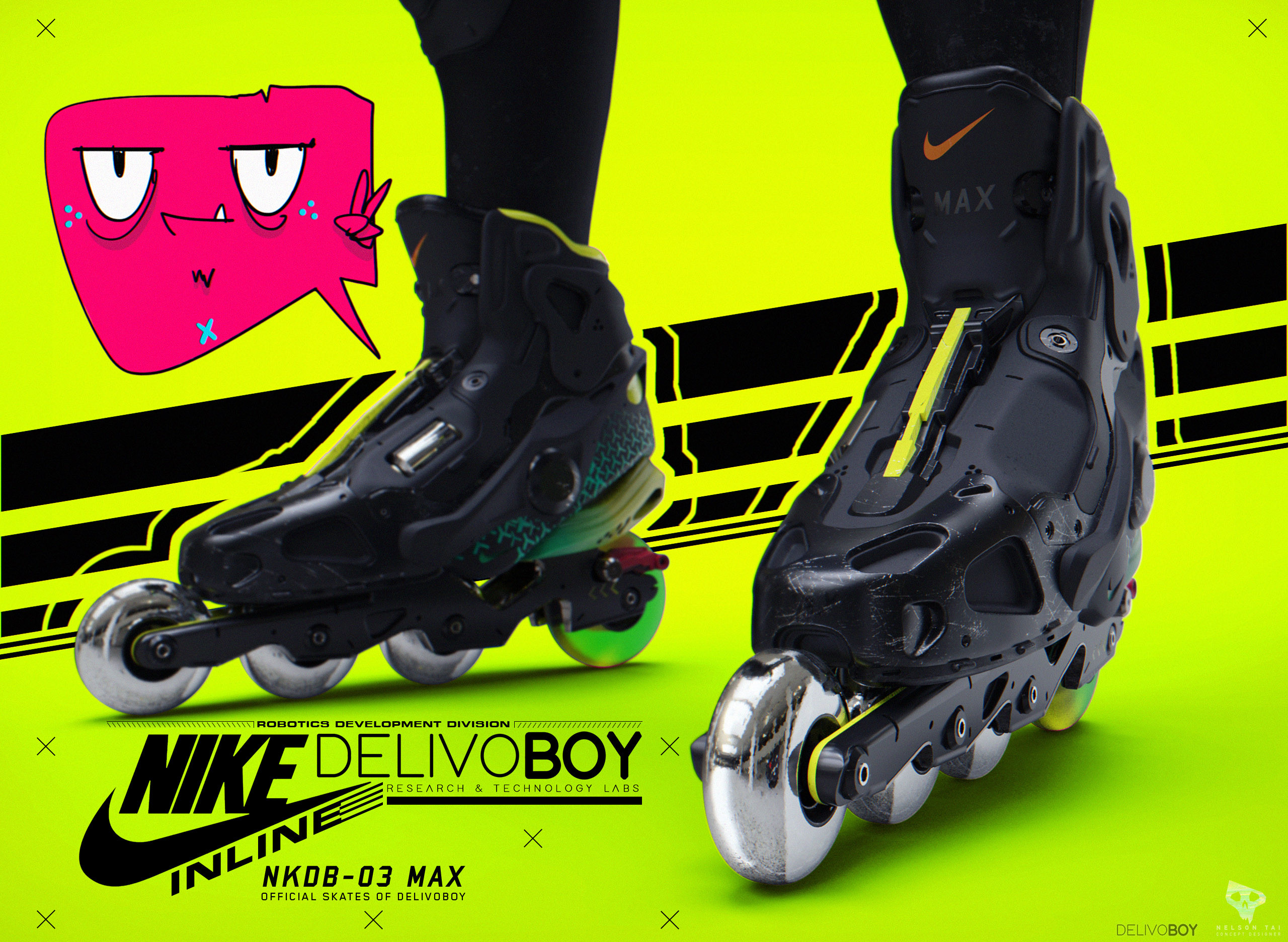 The Official Skates of DelivoBoy! DelivoCo. partnered with Nike to develop these advanced skates!