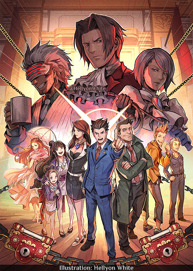Artstation Phoenix Wright Ace Attorney Trilogy Gtm Cover