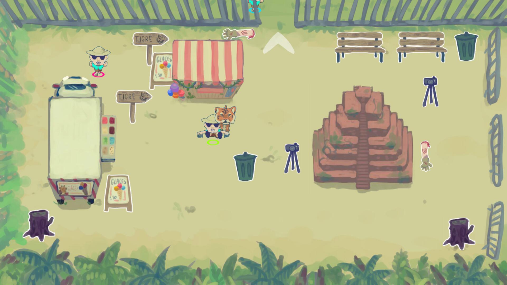 A screenshot of the actual game.