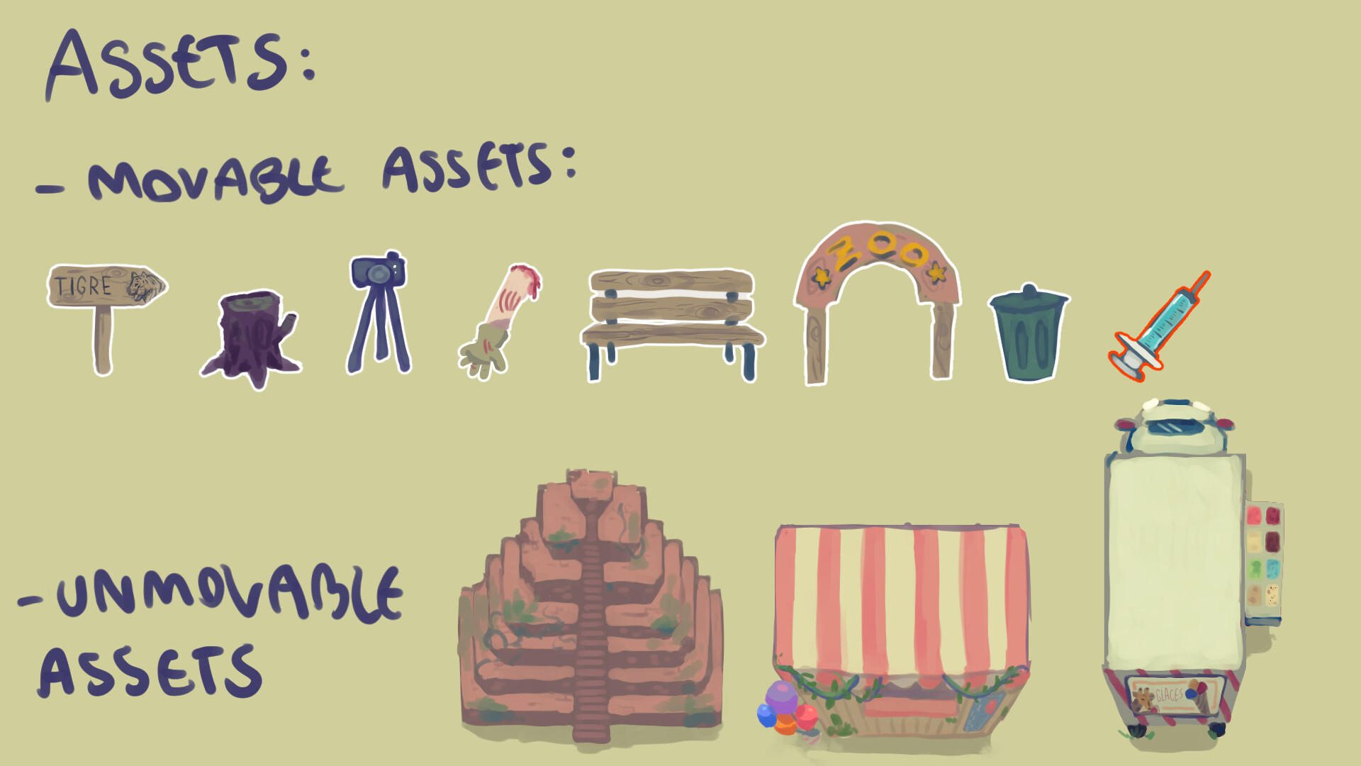 All assets designed and hand-painted for the game.