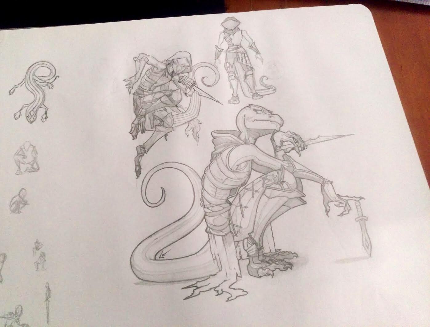 original pencil sketch