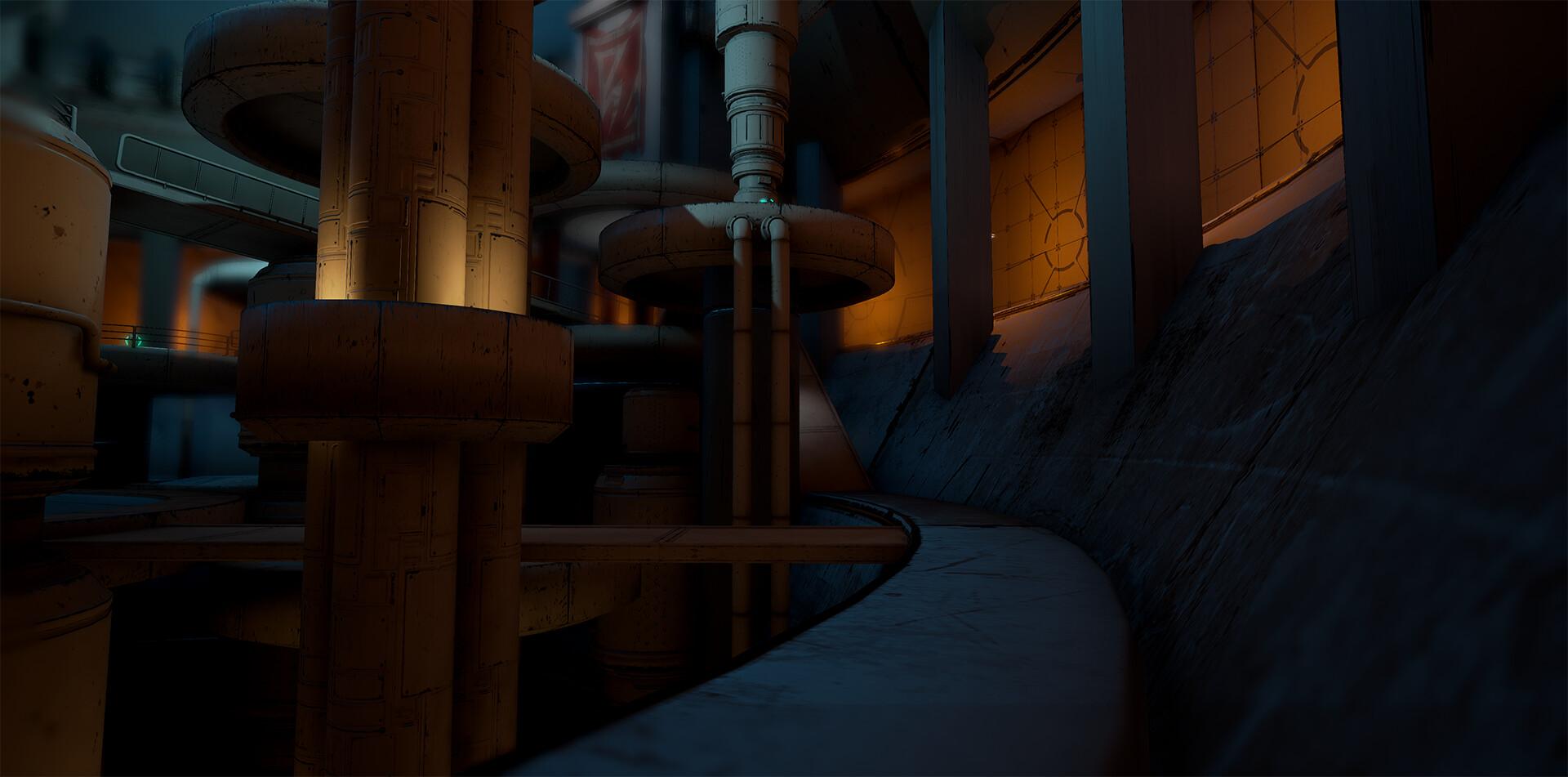 Battle Arena, Bottom Floor. The side passage running around the sides.