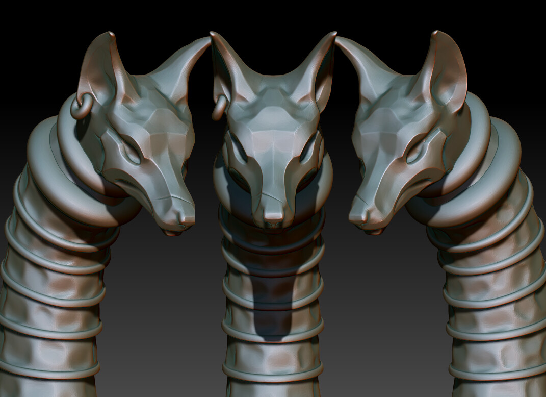 High Poly Jackal Head Detail