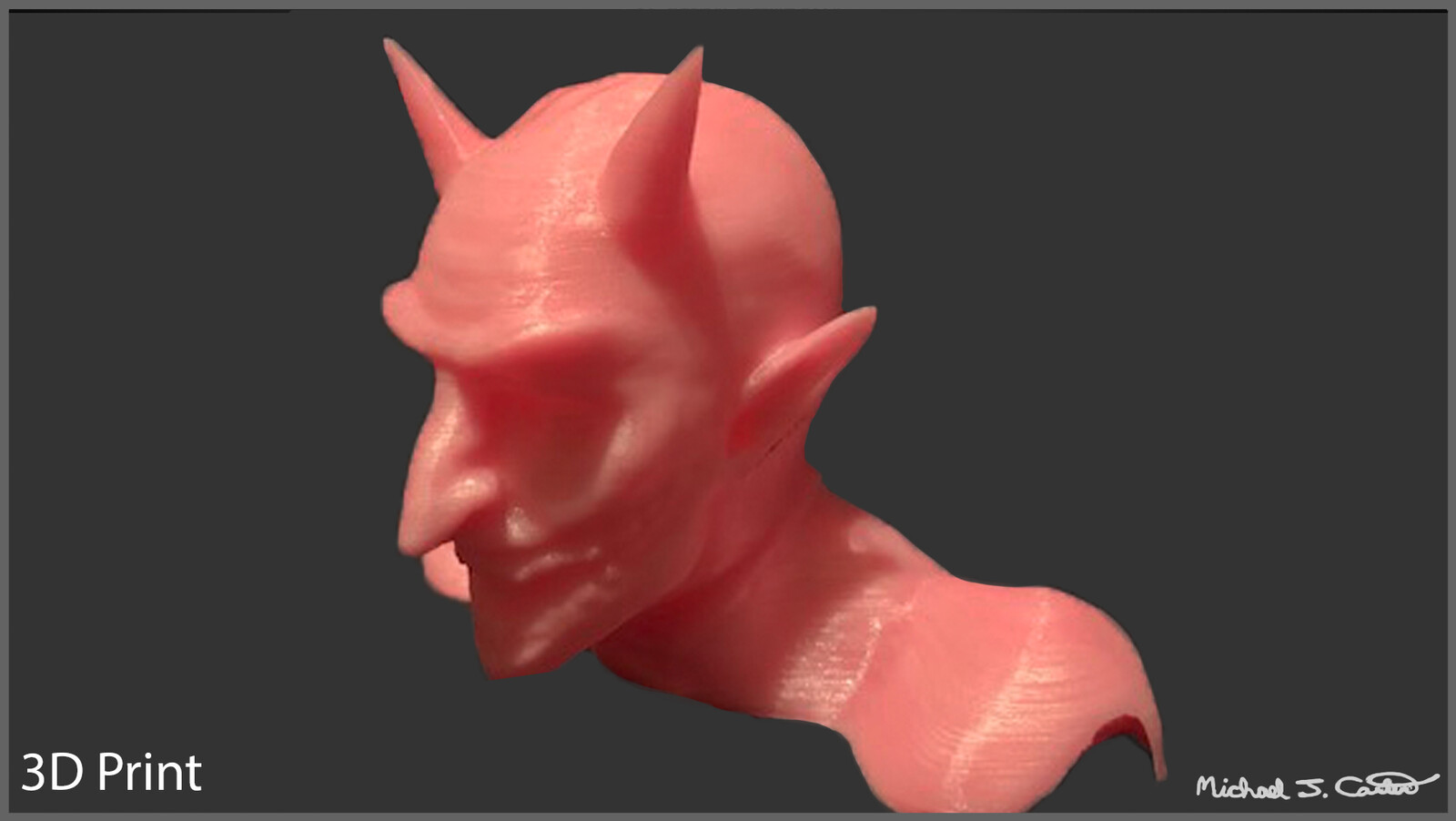 Demon 3D Print & Sculpt - High Poly