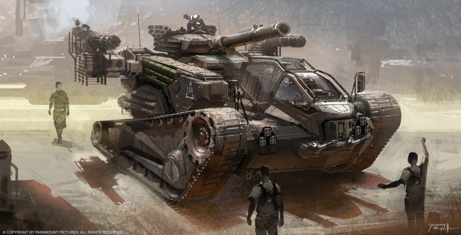 GI Joe Retaliation HISS tank concept