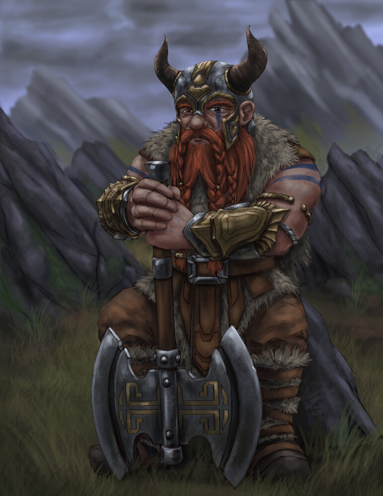 Christian hadfield dwarf barbarian update 3