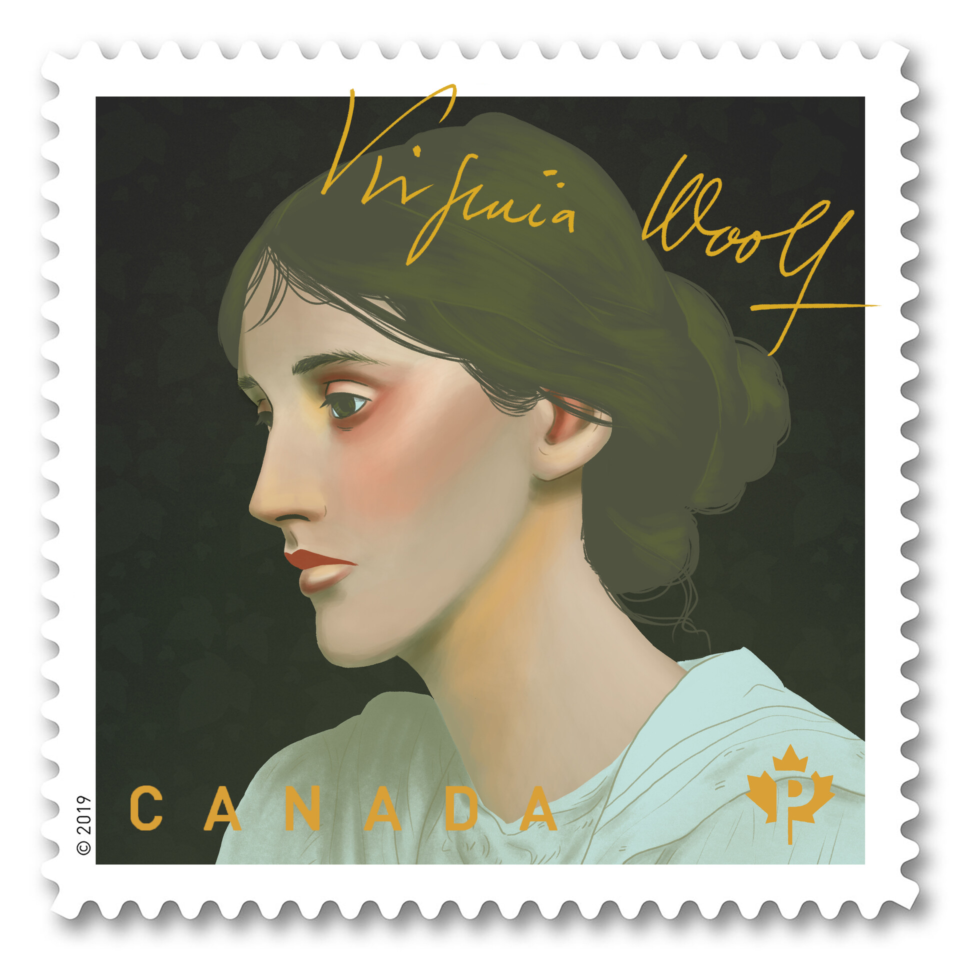 Mary roach virginia woolf square stamp