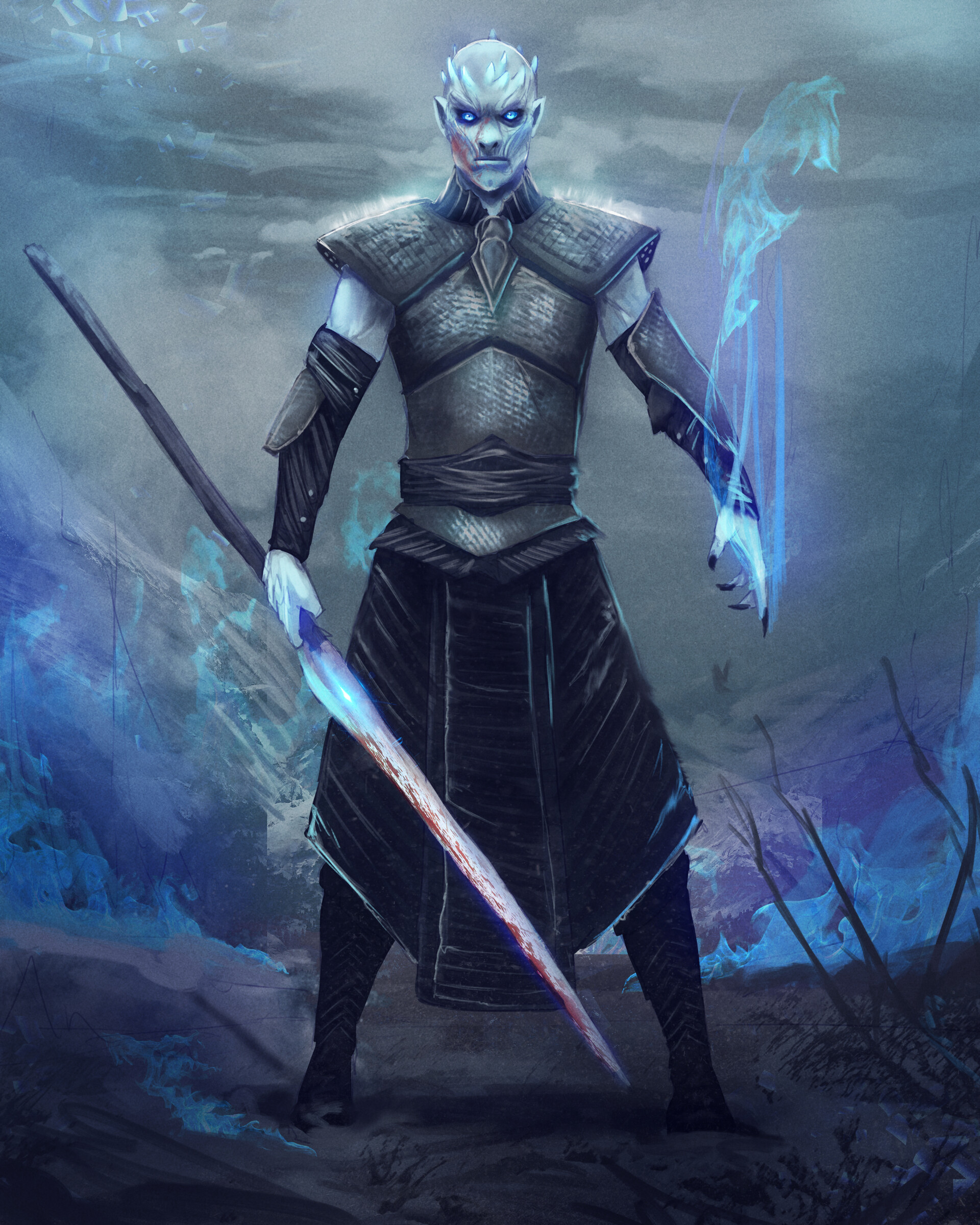 8010f501f0 ArtStation - Winter is Here - The Night King, Christian Botero