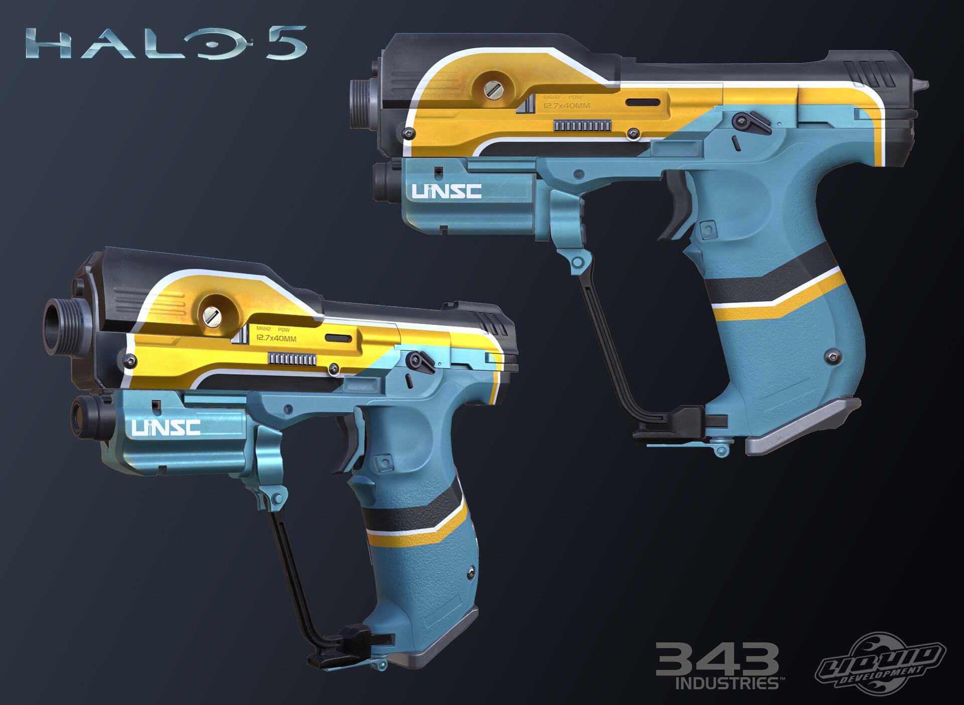ArtStation - Prestige Magnum Skins: Halo 5: Guardians, Michael Fuller