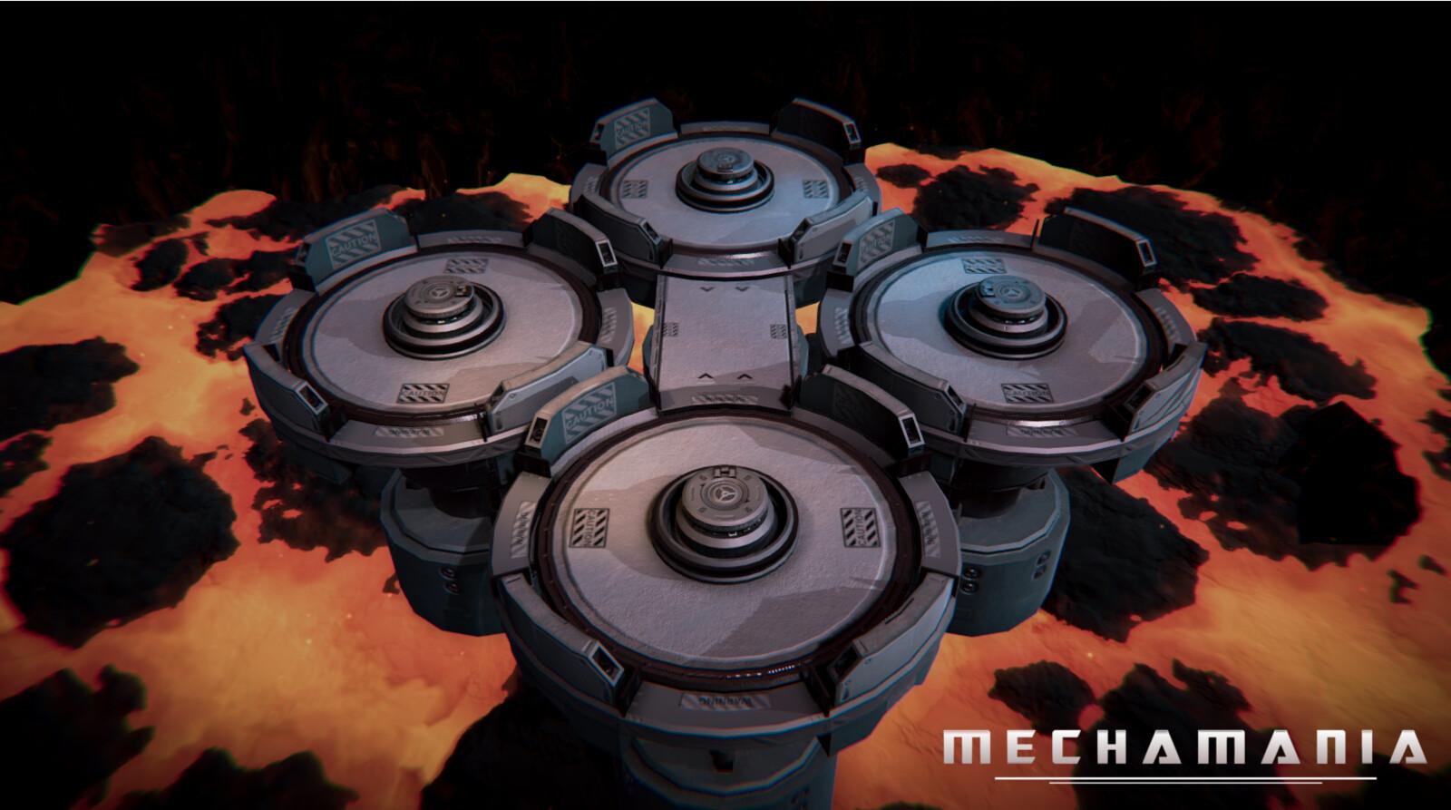 Level 2: Power Core. Rotating platforms and bridges create unique challenges.