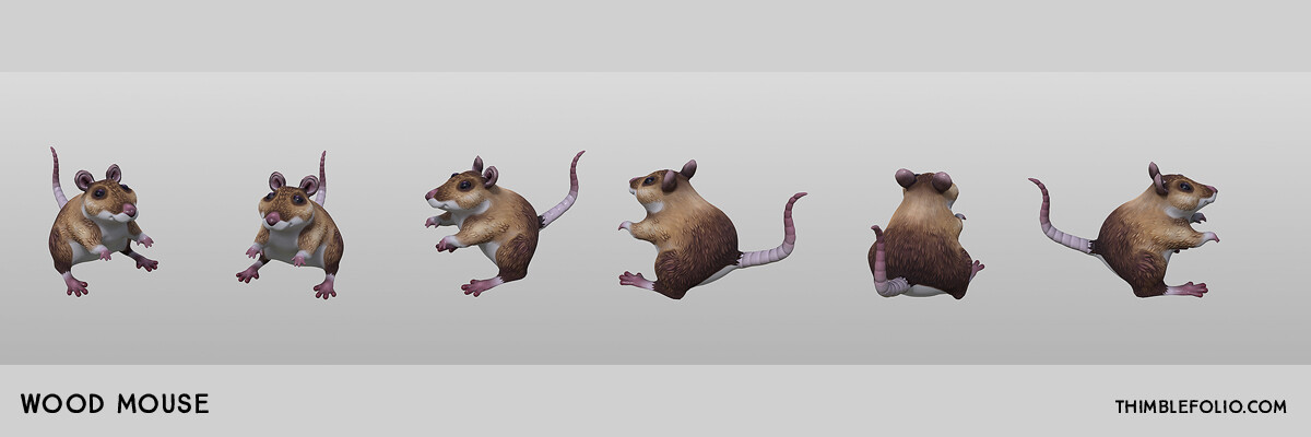 More Wood Mouse Turn Arounds