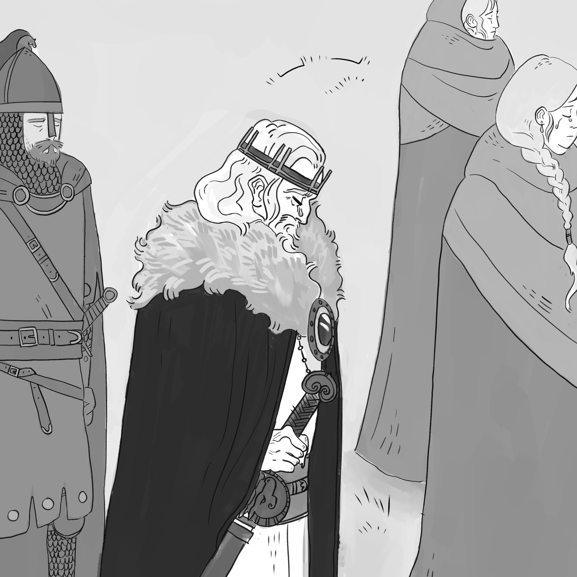 Mary roach procession greyscale wip crop1