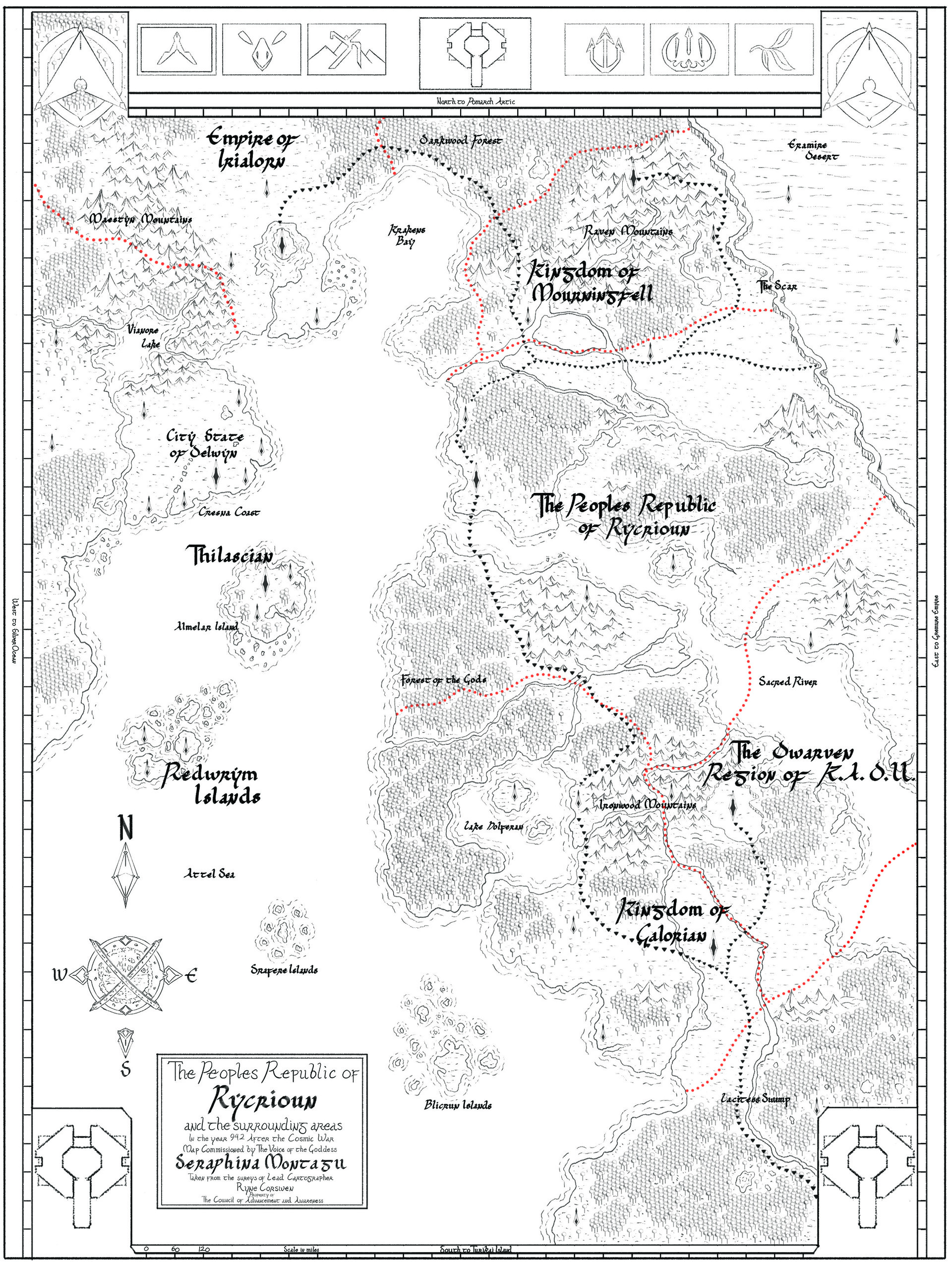 Black and white map for my personal D&D world