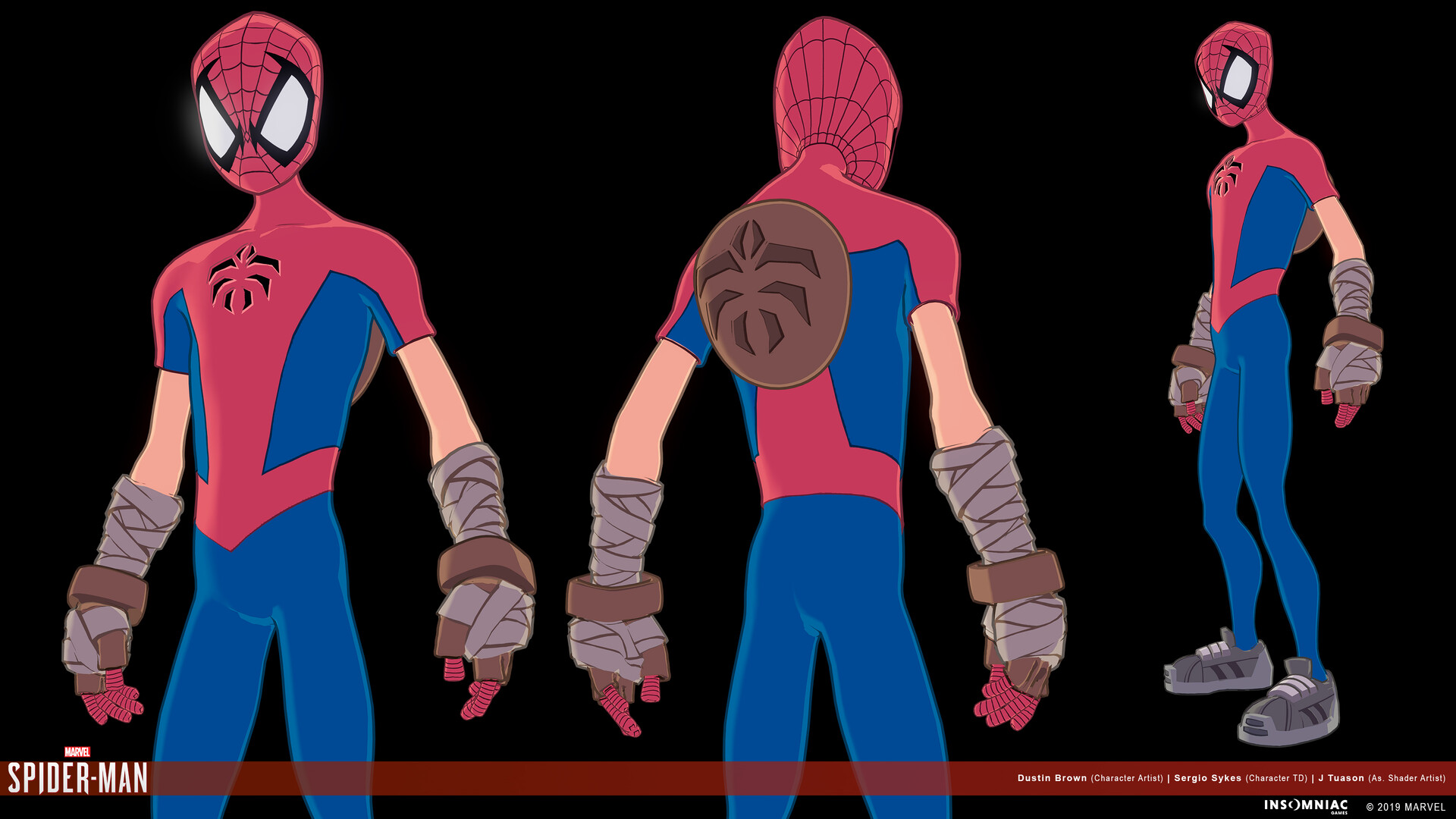 Dustin brown marvels spiderman herosuit mangaverse 01