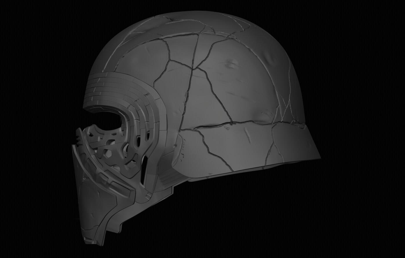 Artstation Reforged Kylo Ren Helmet 3d Peter Beard