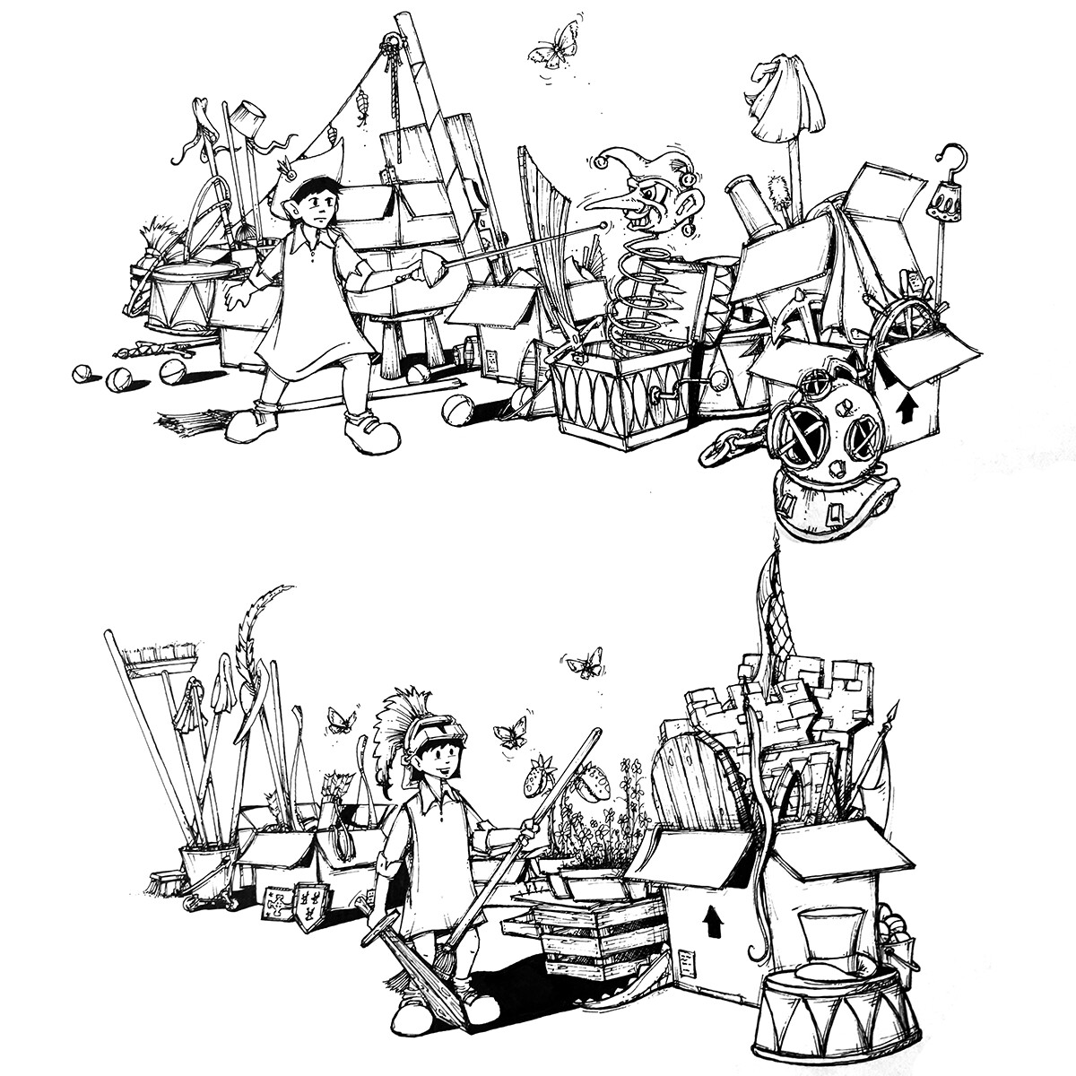 The original concept drawings I did years back