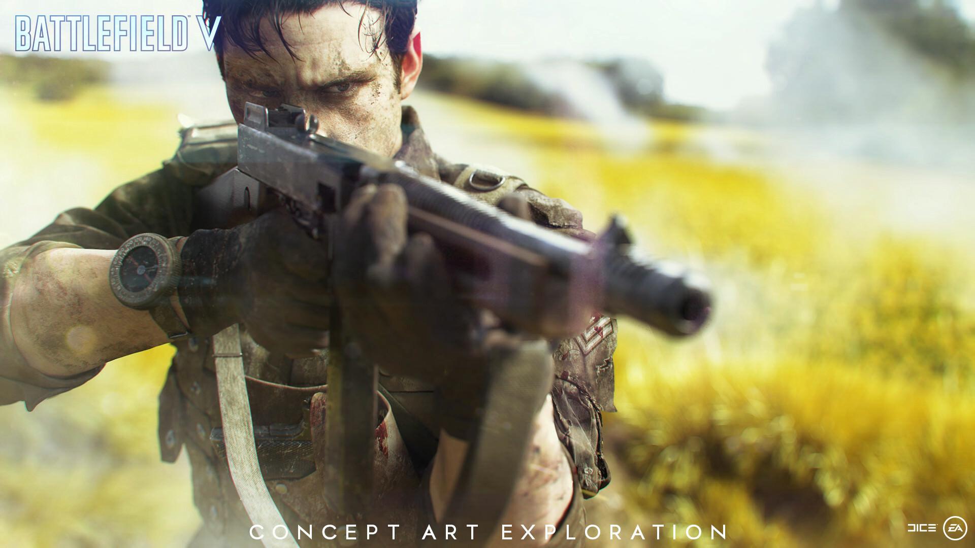 Artstation Battlefield V Blood Wars Video Game Wallpaper